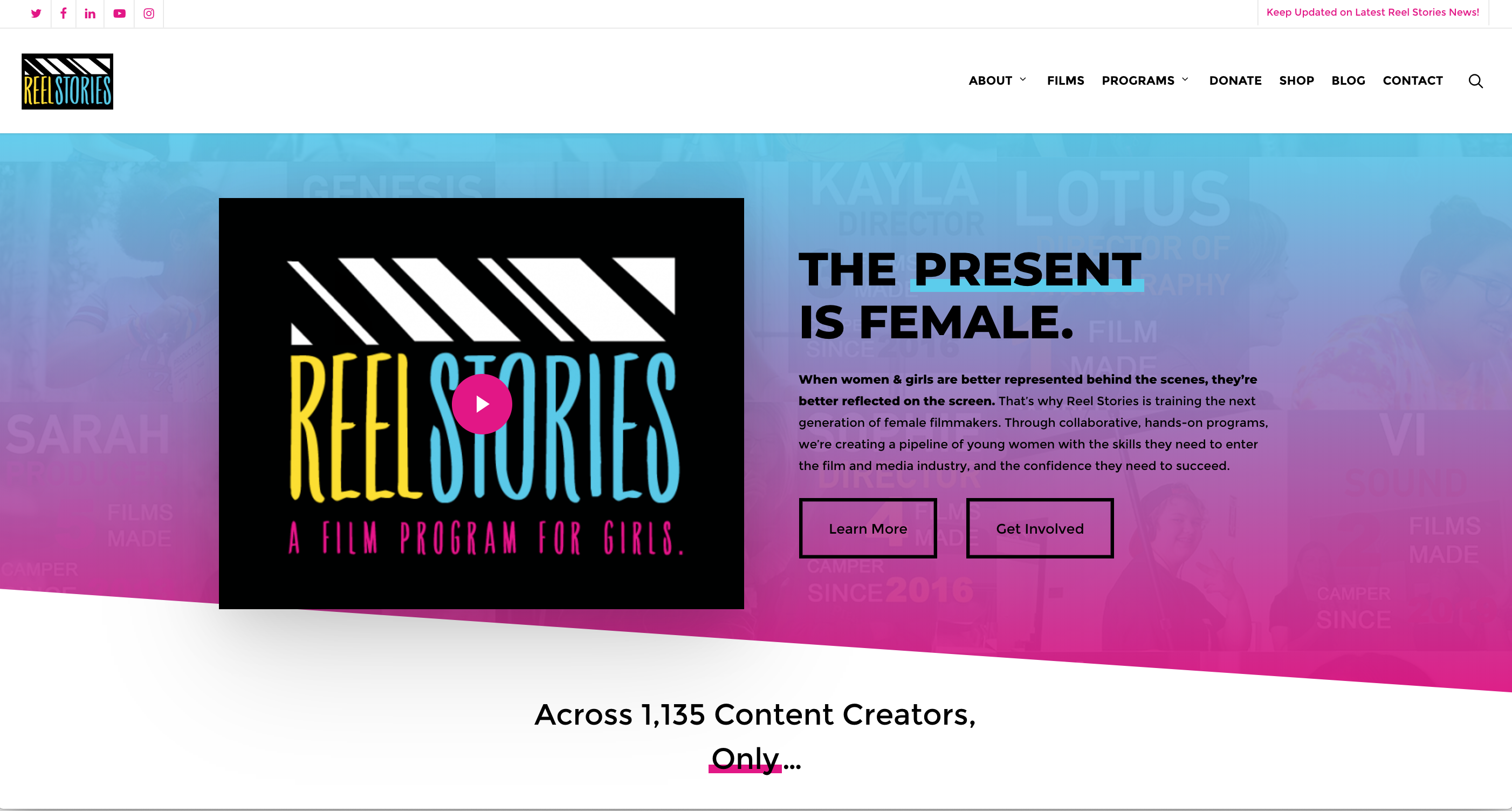 Reel Stories Brand & Site Refresh