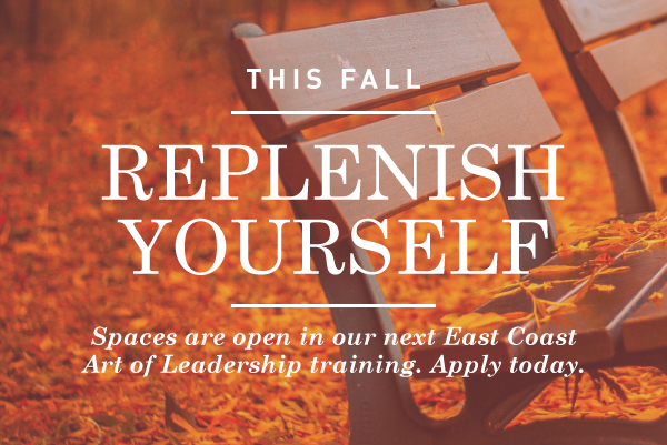 How will you replenish yourself this fall?