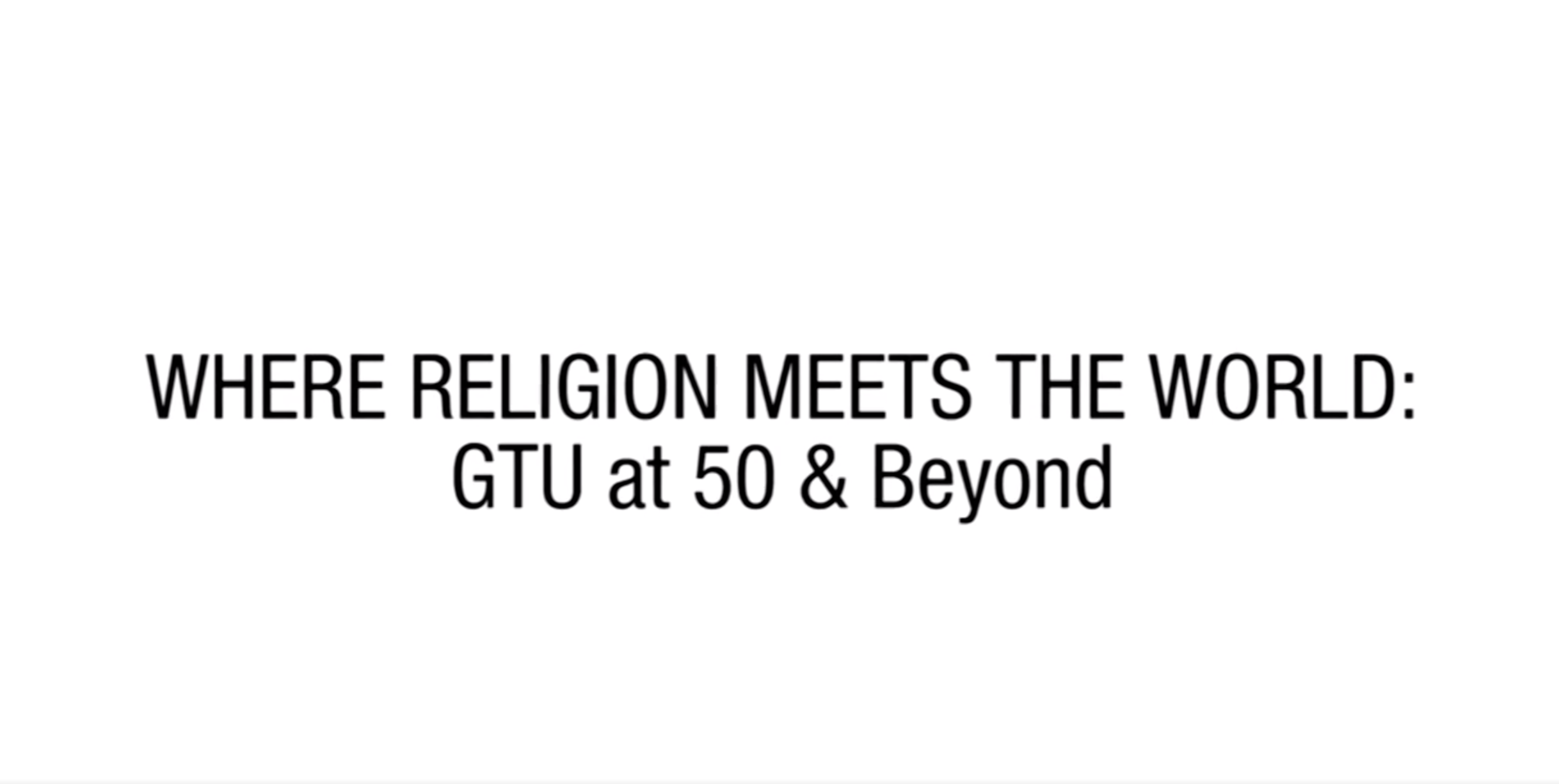 Where Religion Meets The World